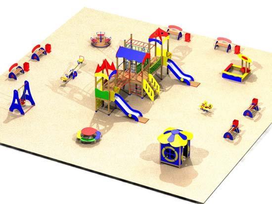 Как сделать макет детской площадки из бумаги своими руками 94